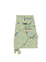 Alabama Map Cullman