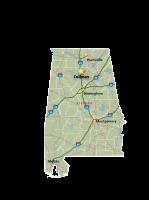 Alabama Map Cullman