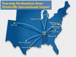 Non-Stop Flights from Huntsville, AL